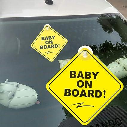 Bleu bébé à bord de sécurité enfant ventouses Voiture Signes Enfant à bord
