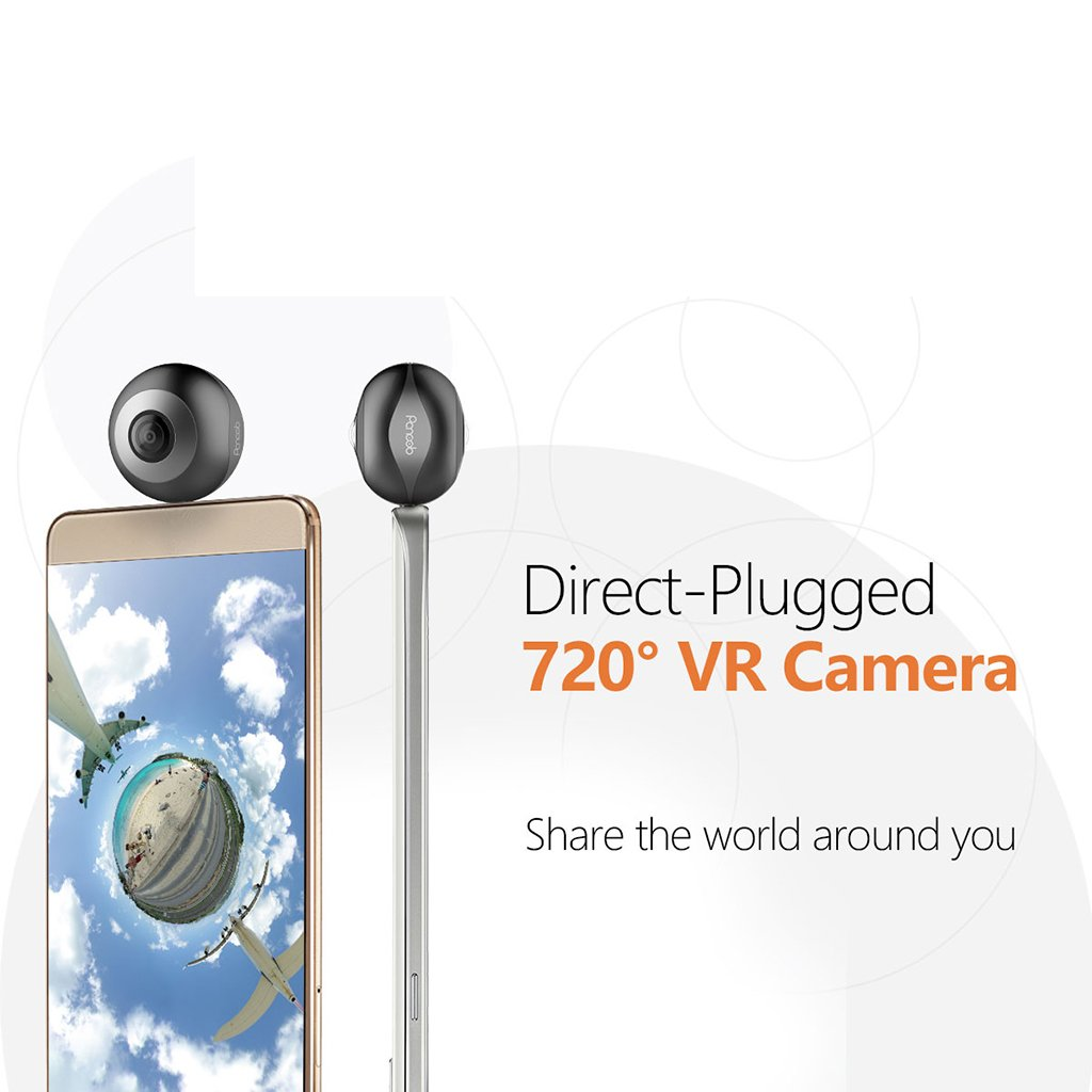 Dovewill Dual 210° Fisheye Lens HD VR Camera for Android Phone Live Seamless Stitching Blank by Dovewill (Image #4)