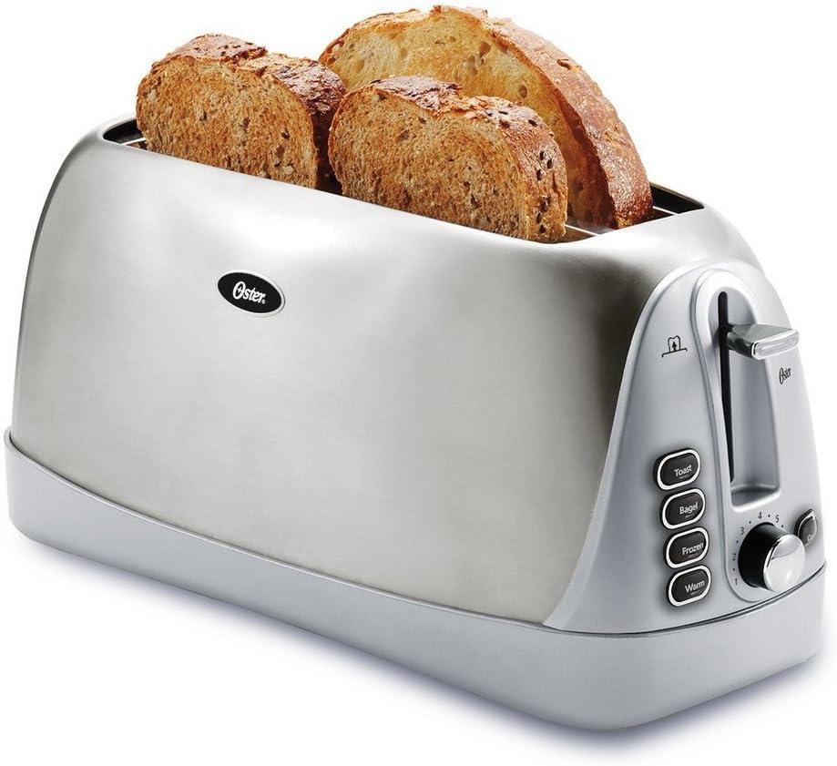 Oster 4-slice Long Slot Toaster, Stainless Steel