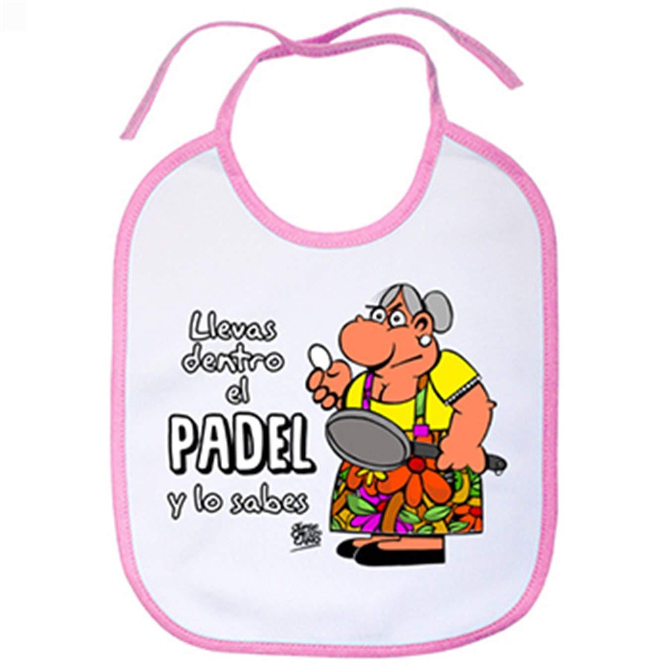 Babero Padel tenis Llevas dentro el padel y lo sabes - Celeste ...