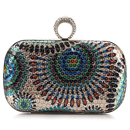 Borse Frizione Bag Catena Sera Per Spalla Scintillanti Decorazione Paillettes Ryyy Strass Cocktail Ladies Donne xSzn5wqRET