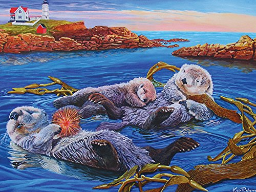 C Sea Otter Family Jigsaw Puzzle, 400-Piece