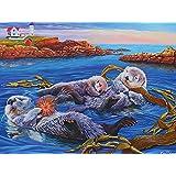 Cobble Hill Sea Otter Family, 400-Piece