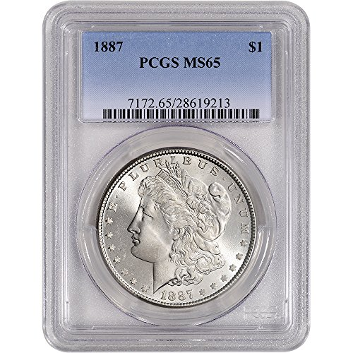 1887 US Morgan Silver Dollar $1 MS65 PCGS