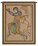 Home Furnishings, Croise Genoux, Belgian Tapestry Wall Hanging, Wall Art Decor, 17 by 22 Inch