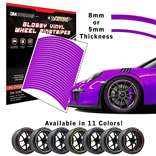 Perfect Pinstripe Gloss Wheel Kit | Pre-Cut 3M 1080 Vinyl Pinstriping | Curved Tape for A (17
