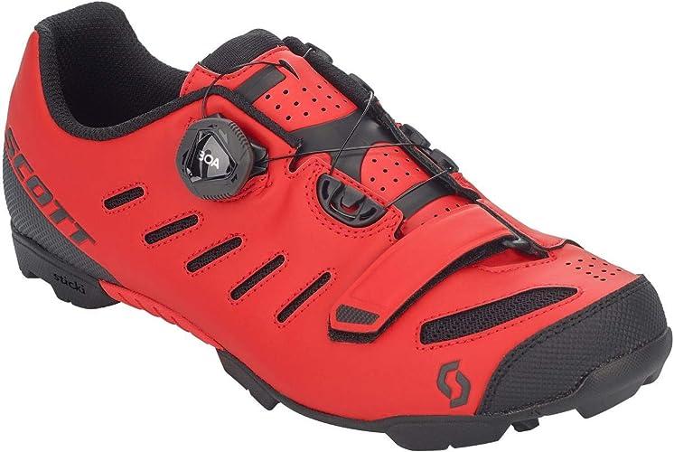 Scott MTB Team Boa 2020 - Zapatillas de ciclismo, color rojo y negro: Amazon.es: Zapatos y complementos