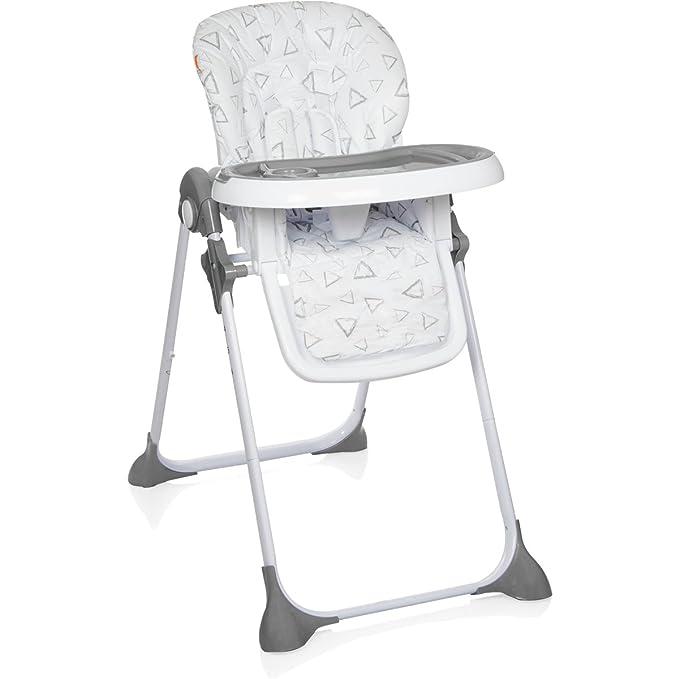 Trona/Silla alta/Baby Trona con bandeja (6 de altura regulable) Calidad Premium blanco blanco/gris: Amazon.es: Bebé
