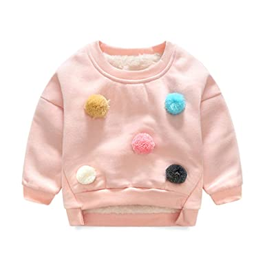 d0502a63e8d9 Amazon.com  Children Fleece Sweaters Kids Girls Boys Long Sleeve ...