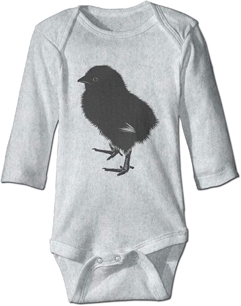 Baby Chick Silhouette Baby Newborn Infant Boy Girl Cotton Romper Bodysuit Clothes Jumpsuit