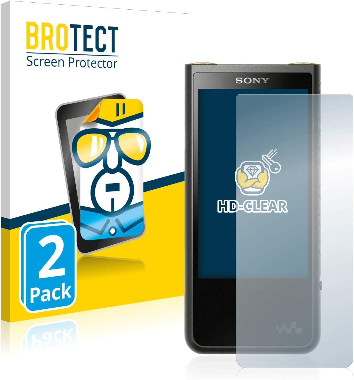 HD-Clear Protection Film brotect 2-Pack Screen Protector compatible with Sony ZX500