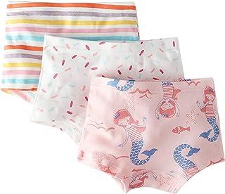 Allmeingeld Girls' Princess Knickers Castle Boyshort Cotton Underwear 5 Pack for 1-13 Years