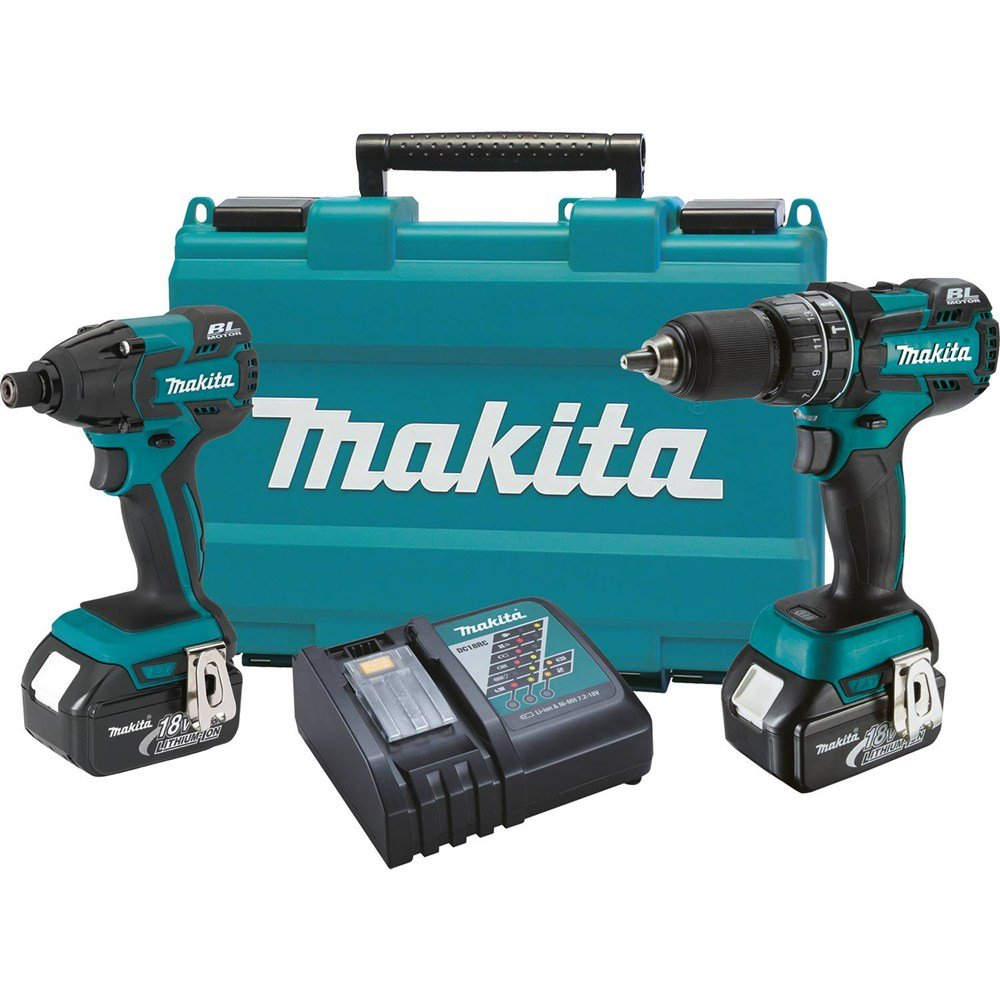 Makita XT248 18V LXT Lithium-Ion Brushless Cordless 2-Pc. Combo Kit 3.0Ah