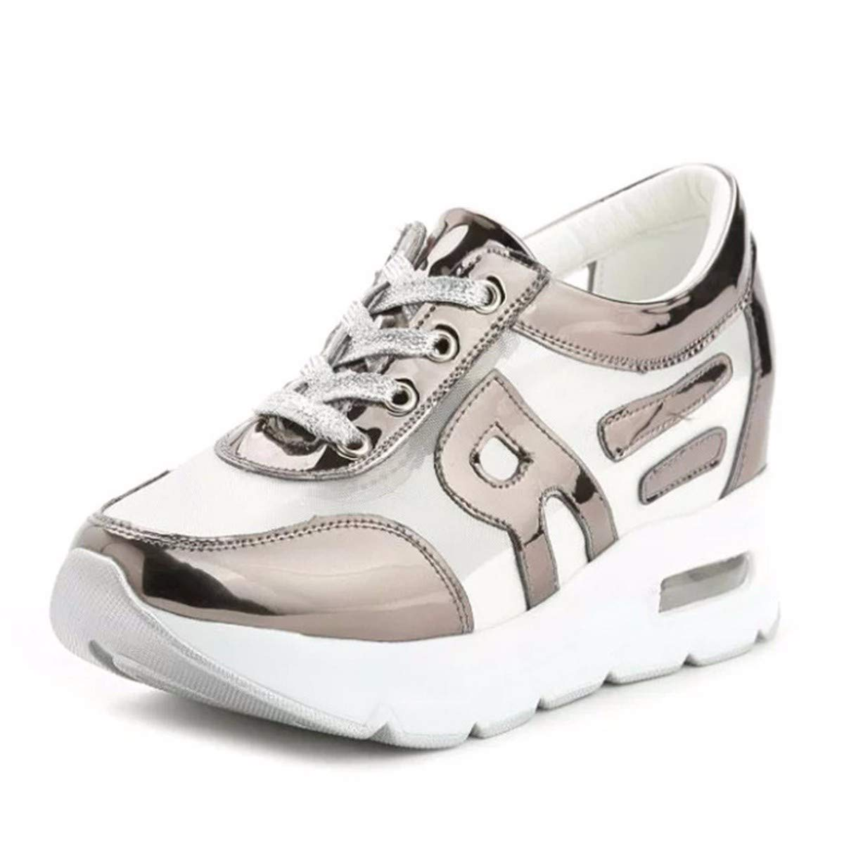 KPHY Damenschuhe Einzelne Freizeit Schuh Gaze Meine Freizeit Einzelne Dicke Sohle Schaukeln Schuhe Gaze Innen Verschärfen.Farbe Rauben 37 d139b7