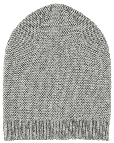 Light Grey Cashmere Purl Stitch Hat by Johnstons of (Johnstons Cashmere)