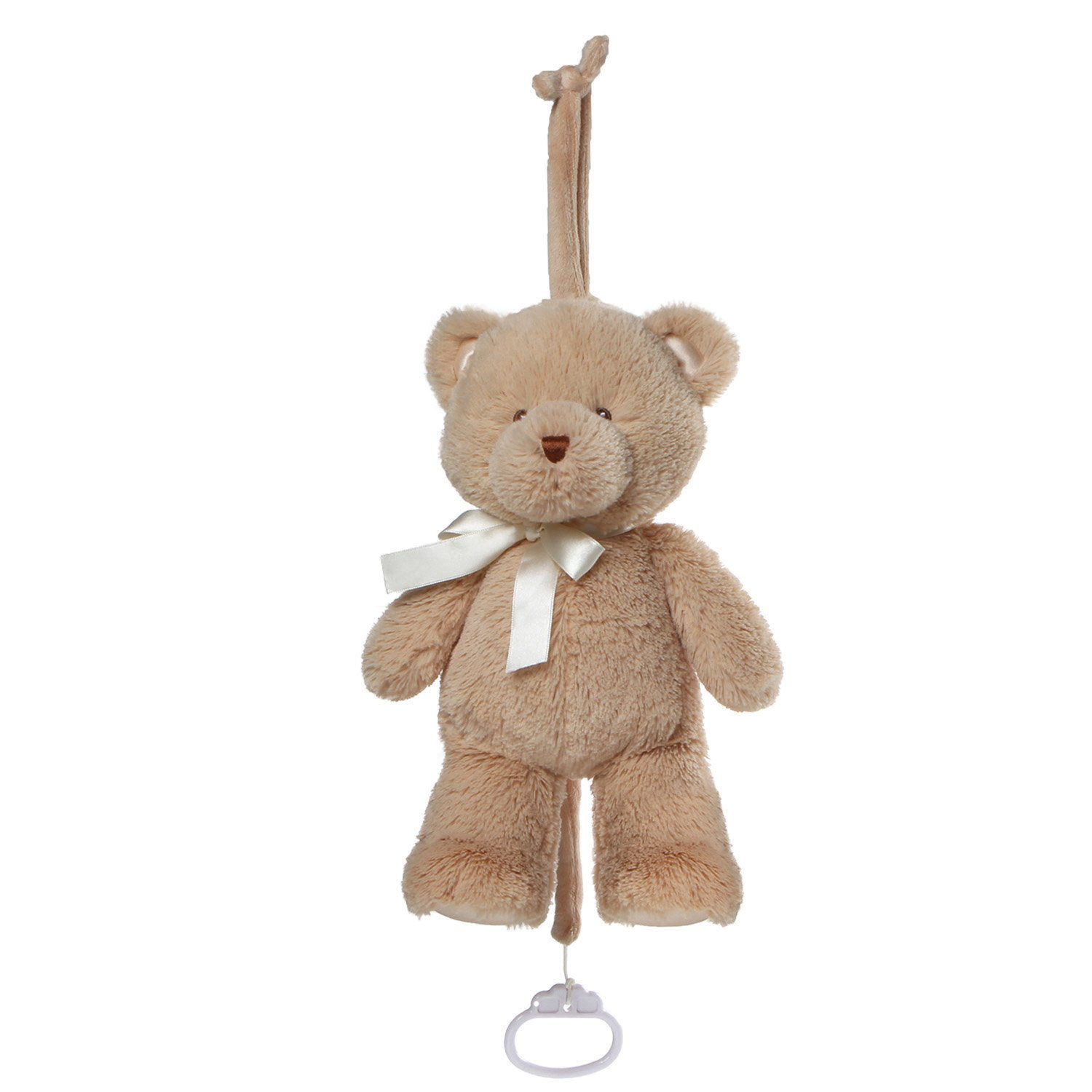 Baby GUND My First Teddy Musical Lullaby Stuffed Animal Plush Pull Down, Brown, 10'' by GUND