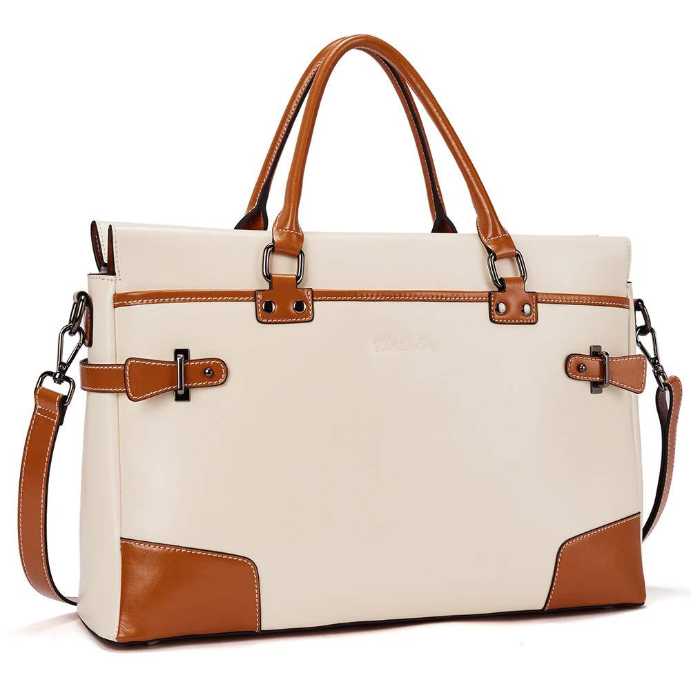 BOSTANTEN Leather Briefcase Messenger Satchel Bags Laptop Handbags for Women by BOSTANTEN (Image #1)
