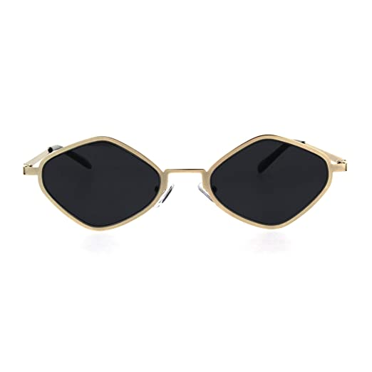 4abe3b260b592 Amazon.com  Hippie Diamond Shape Metal Rim Pimp Retro Sunglasses ...