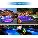 LAMPAOUS Inground LED Pool Lights Bulb Multi Color
