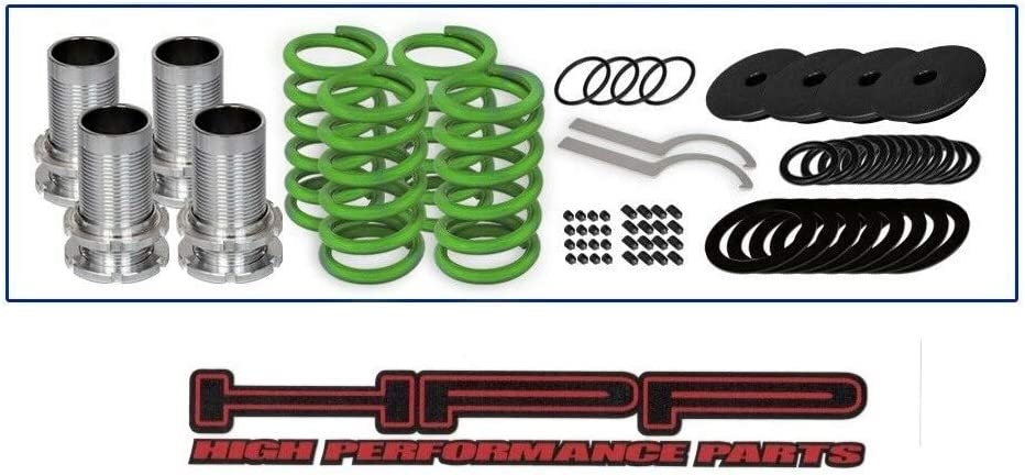 High Performance Parts Red Lowering Coilover Spring Kit For Dodge 95-99 Avenger//Eagle 95-98 Talon//Mitsubishi 98-99 Eclipse GS GST Will Not Fit Convertible Models