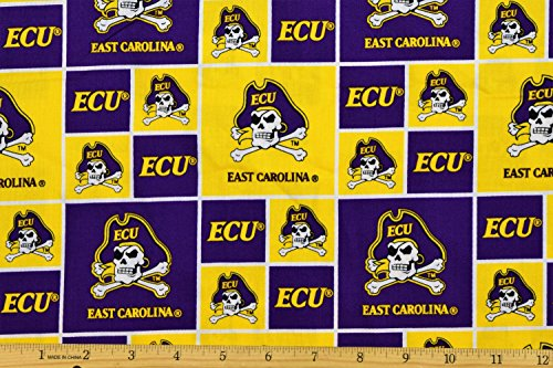 (East Carolina State University Pirates Fabric Collegiate Fabric NCAA Fabric ECU Fabric By Sykel 100% Cotton)