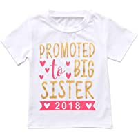 SWNONE 2018 Baby Girl Clothes Outfit Big Sister Letter Print T-Shirt Top Blouse Shirts