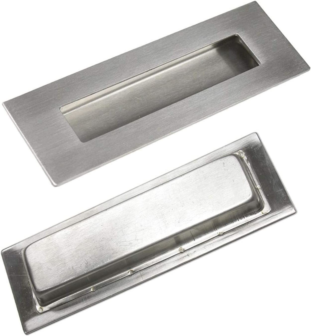 """YOUNG HINKLE Vintage 4.5/"""" Rectangular Recessed Brass Drawer Pull 3 Available"""