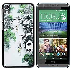 Graphic4You Chinese Painting Design Hard Case Cover for HTC Desire 820 by ruishername