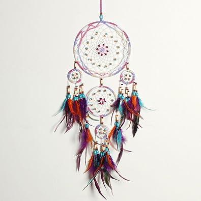 0b85404863 Buy DALU.A.F Rainbow-5 Ring: Dalu. A. F Boho Dream Catcher Handmade ...