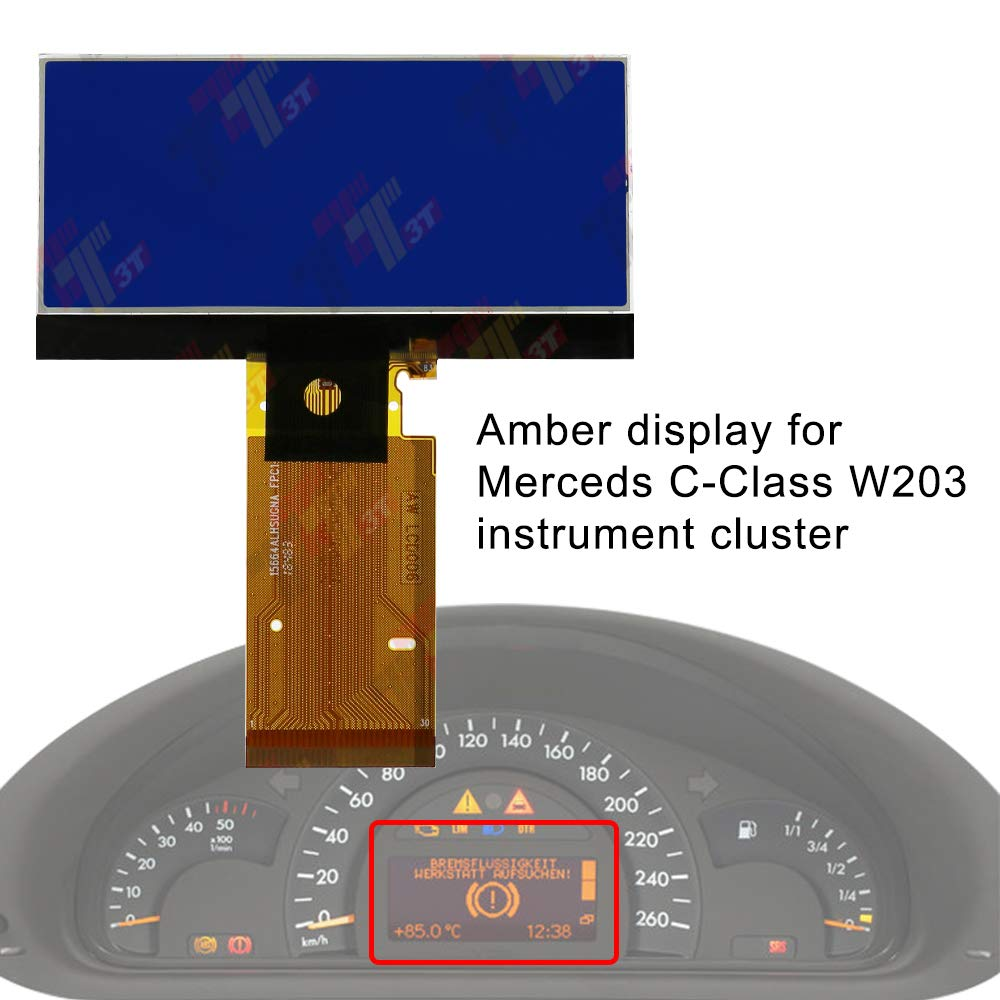 Allway Instrument Speedometer Cluster LCD Screen Display for Mercedes-Benz W203 C230 C240 C320 C-Class 2001-2004 by Allway