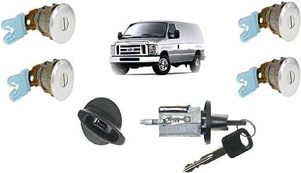 Amazon Com Ford Econoline Van E150 E250 E350 Keyed Door Locks Keyed Ignition Switch Cylinder Lock Set For Cargo Club Wagon Passenger Van 1997 2012 Car Electronics