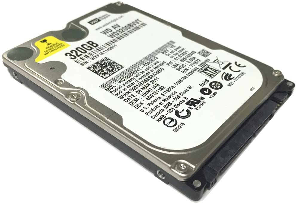 """Western Digital WD3200BVVT 320GB 8MB Cache 5400RPM SATA 3.0Gb/s 2.5"""" Notebook Hard Drive (For PS3, PS4 & Laptop) - w/ 1 Year Warranty"""