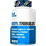 Evlution Nutrition 100% Pure Tribulus Terrestris Extract - Maximum Potency 90% Steroidal Saponins, Testosterone Booster and E