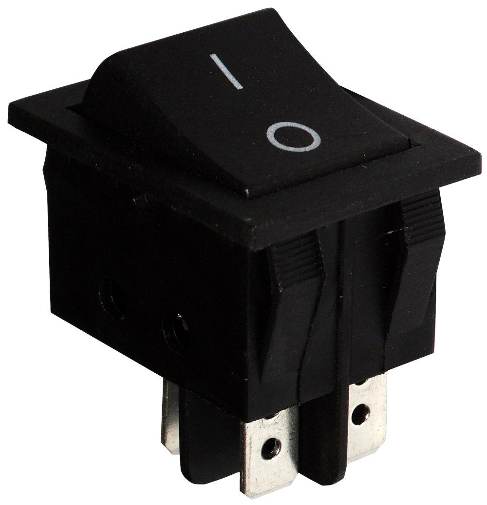 Interrupteur commutateur contacteur bouton /à bascule noir DPST ON-OFF 15A//250V 2 positions AERZETIX