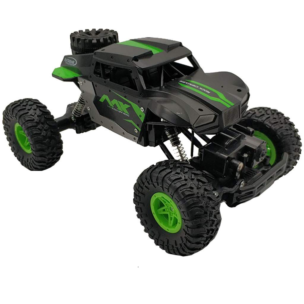 1/16 Scale RC Rock Crawler Four-Wheel Drive RC Off Road Rock Crawler 4CH High Speed Remote Control Rock Crawlers Rechargable Alloy RC Climbing Car for Adults