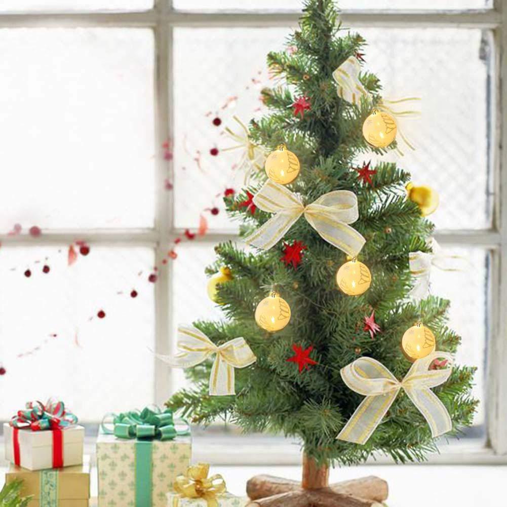 Amazon.com: VOVI Christmas Ball with Light Christmas Tree Decorative Ball Pendant Annual Edition Christmas Ball Ornament Christmas Innovative Luminous Ball ...