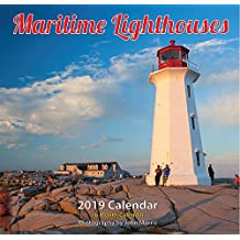 "2019 Maritime Lighthouse Monthly Wall Calendar 12""x11.5"""