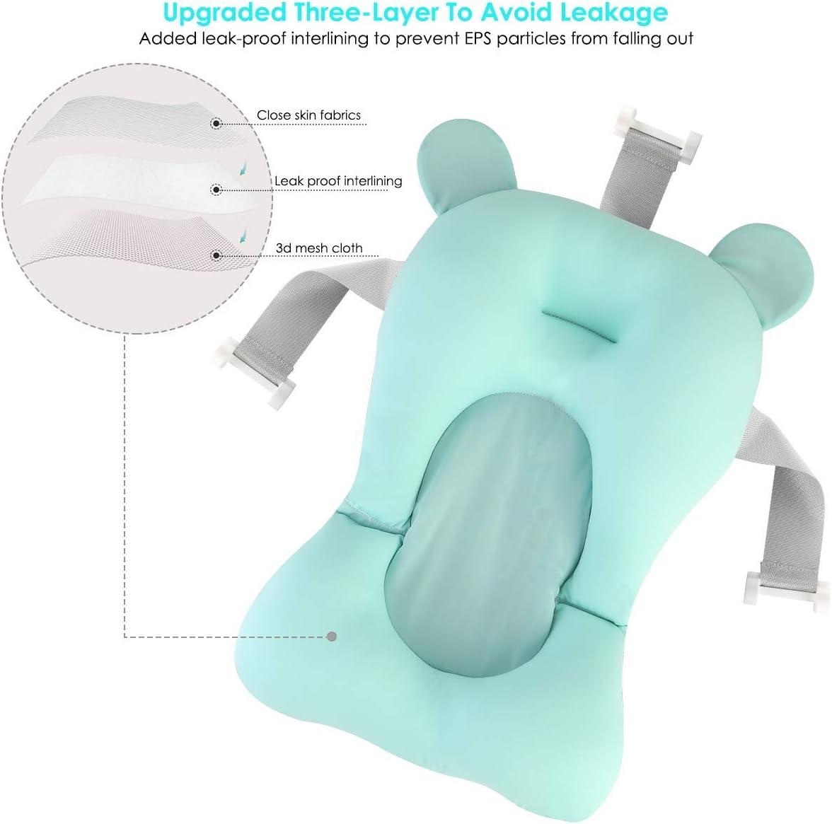 Baby Bather Infant Bath Support Bath Seat Pad,Bath Seat Support Net,Floating Soft Baby Bath Pillow /& Lounger Newborn Pad Tub Cushion