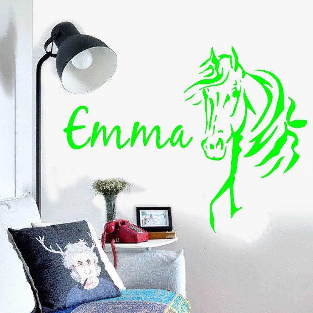 Tatuajes de pared Nombre personalizado Cabeza de caballo Nombre ...