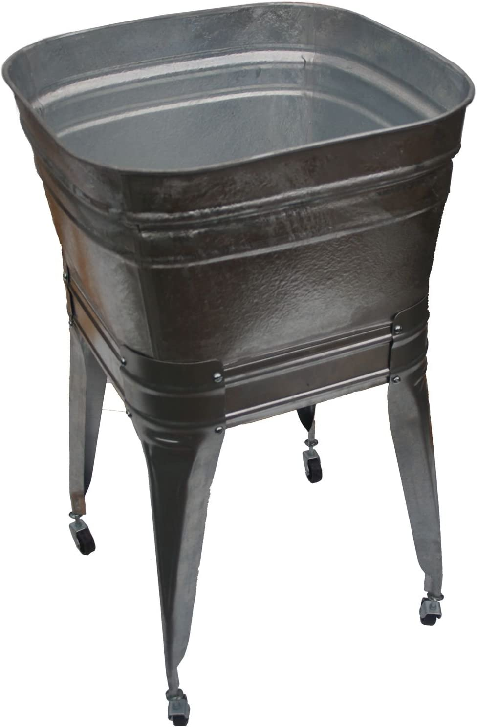 Square Wash Tub with stand and drain
