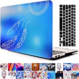 2013-2015 Ver MacBook Pro Retina 15'' Case and Keyboard Cover, AICOO YCL 2-in-1 Beautiful Hard Case Cover With Keyboard Skin Protector For MacBook Pro Retina 15.4 inch A1398, Blue Dreamcatcher