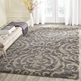 Safavieh Florida Shag Collection SG462-8013 Grey and Beige Area Rug (5'3'' x 7'6'')