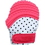 Baby Teething Mitten Soft Food Grade Mom Invented Silicone Teether Mitten with Travel Bag Ideal Teething Toys for Baby…