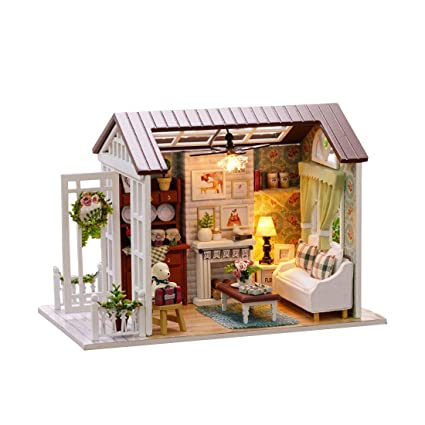 Amazon Com Handmade Miniature Dollhouse 3d Wooden Diy Kit Mini