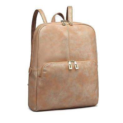 038cd6abba39 Miss Lulu Fashion Backpack Large Capacity PU Leather Girls School Rucksack  Satchel Women Shoulder Bag Handbags