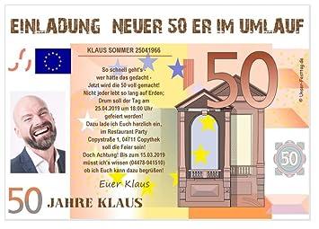 Geburtstagseinladungen Runder Geburtstag Lustig Für 50ten