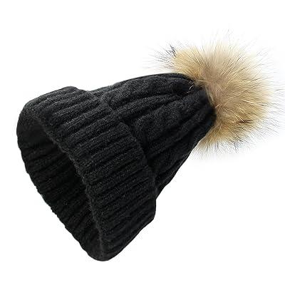 Bébé bonnet au Crochet Chapeau d'Automne-Hiver La Laine Chaude avec pompom mignon en laine tricoté de ski chauffage casquette