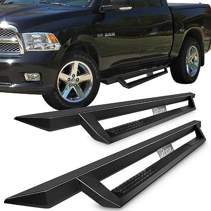 Running Boards Fits 2009 2015 Dodge Ram 1500 10 15 Dodge Ram 2500 3500 Crew Cab Ikon V1 Style Black Steel Side Step Bar Nerf Bar By Ikon