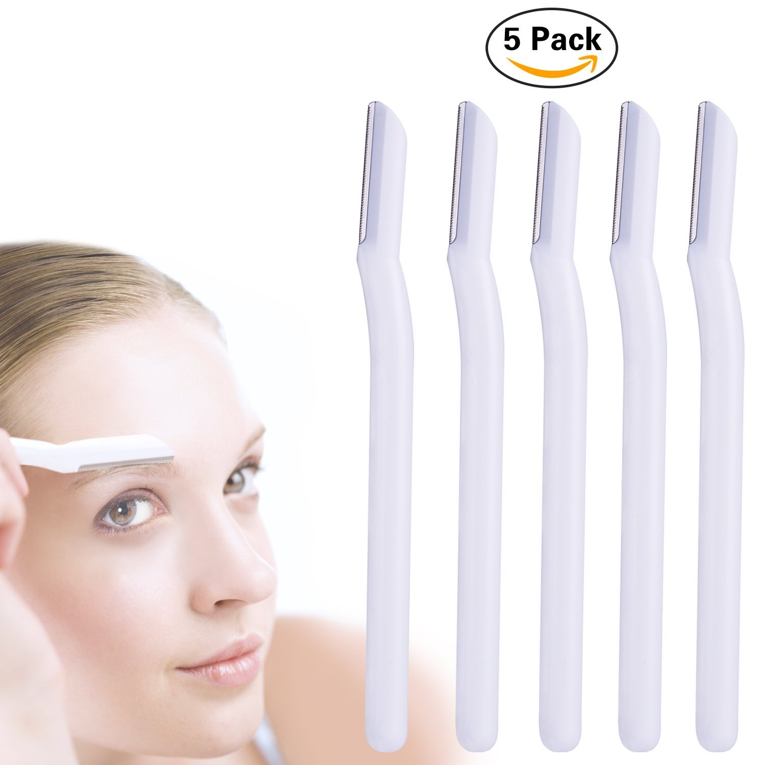 Eyebrow Razor, Miss Gorgeous Eyebrow Trimmer Facial Hair Remover Women's Trimmers Shaving Grooming Kit (5 Pack) St Future