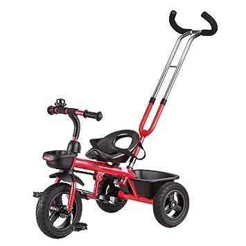 Triciclos- niños Trike de Bicicleta para niños 2-5 años de Edad Carrito de bebé para bebés (Color : Rojo): Amazon.es: Hogar